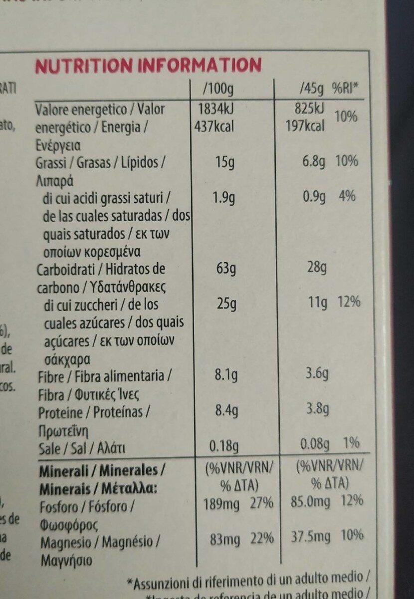 Super foods granola - Informació nutricional - it