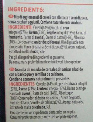 Kellog - Ingredients - fr