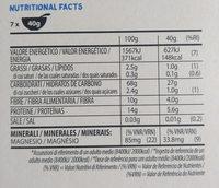 Cereali integrali original - Informação nutricional - es