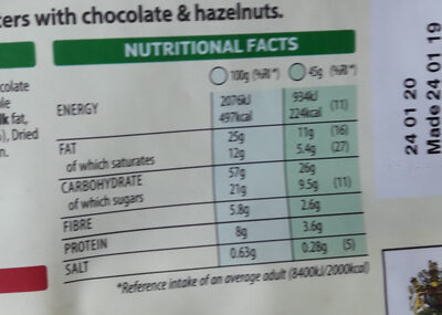Crunchy Nut - Glorious Oat Granola - Nutrition facts