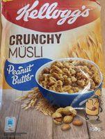 Crunchy müsli peanut butter - Product - de