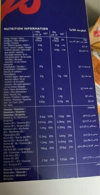 Frosties - Informations nutritionnelles