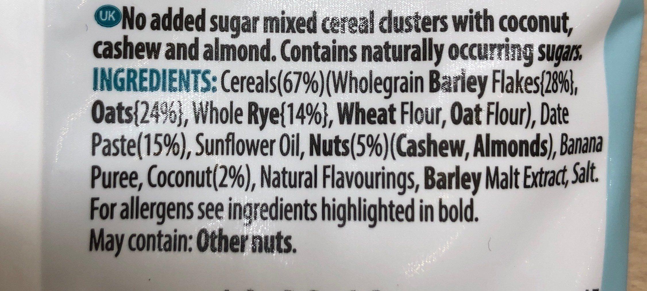 Crunchy müsli granola noix de coco et cacahuètes - Ingredientes - fr