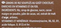 Coco pops - Ingrediënten - fr
