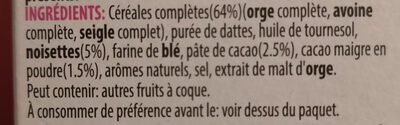 Kelloggs Crunchy Muesli Cacao & Hazelnut - Ingredientes - pt
