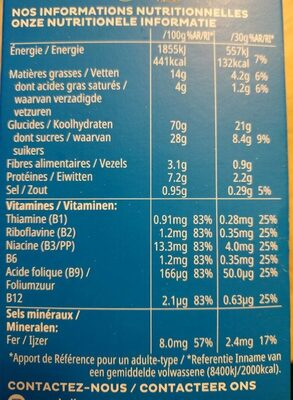 Tresor - Nutrition facts - fr