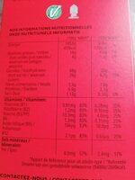Trésor goût chocolat noisettes - Informations nutritionnelles - fr