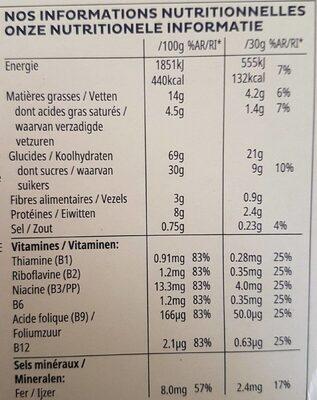 Trésor duo choco - Informazioni nutrizionali - fr