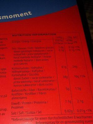 Smacks - Informations nutritionnelles - fr