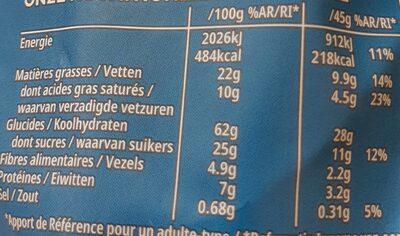 Kellogs Extra chocolat au lait - Voedingswaarden - fr