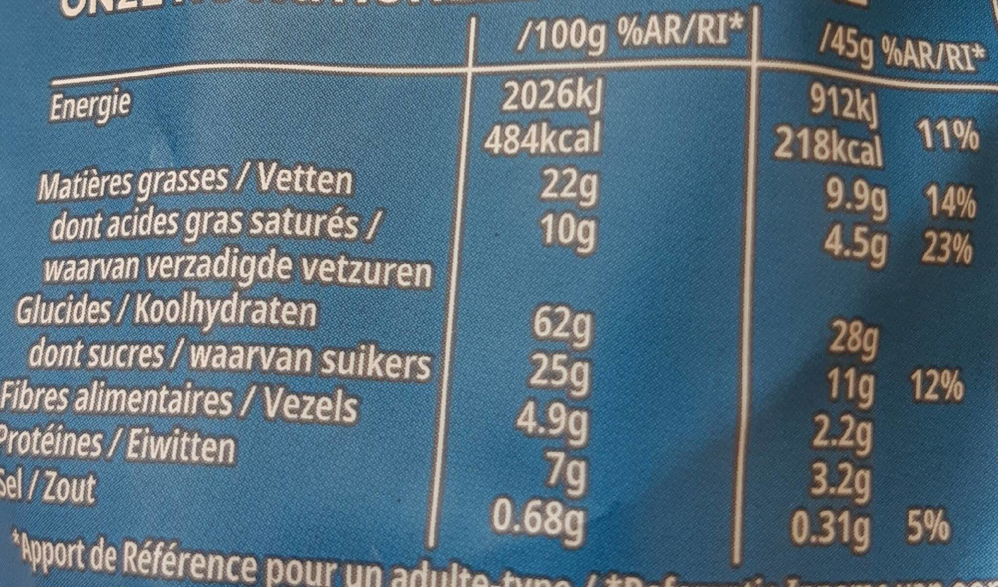 Céréales Extra Kellogg's Chocolat au Lait - Voedingswaarden - fr