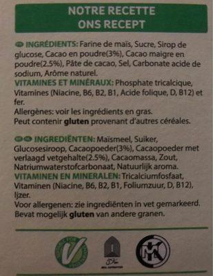 Coco pops jumbos - Ingrediënten