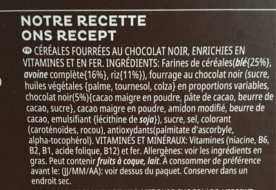 Trèsor Pure Chocolate - Ingrediënten - fr