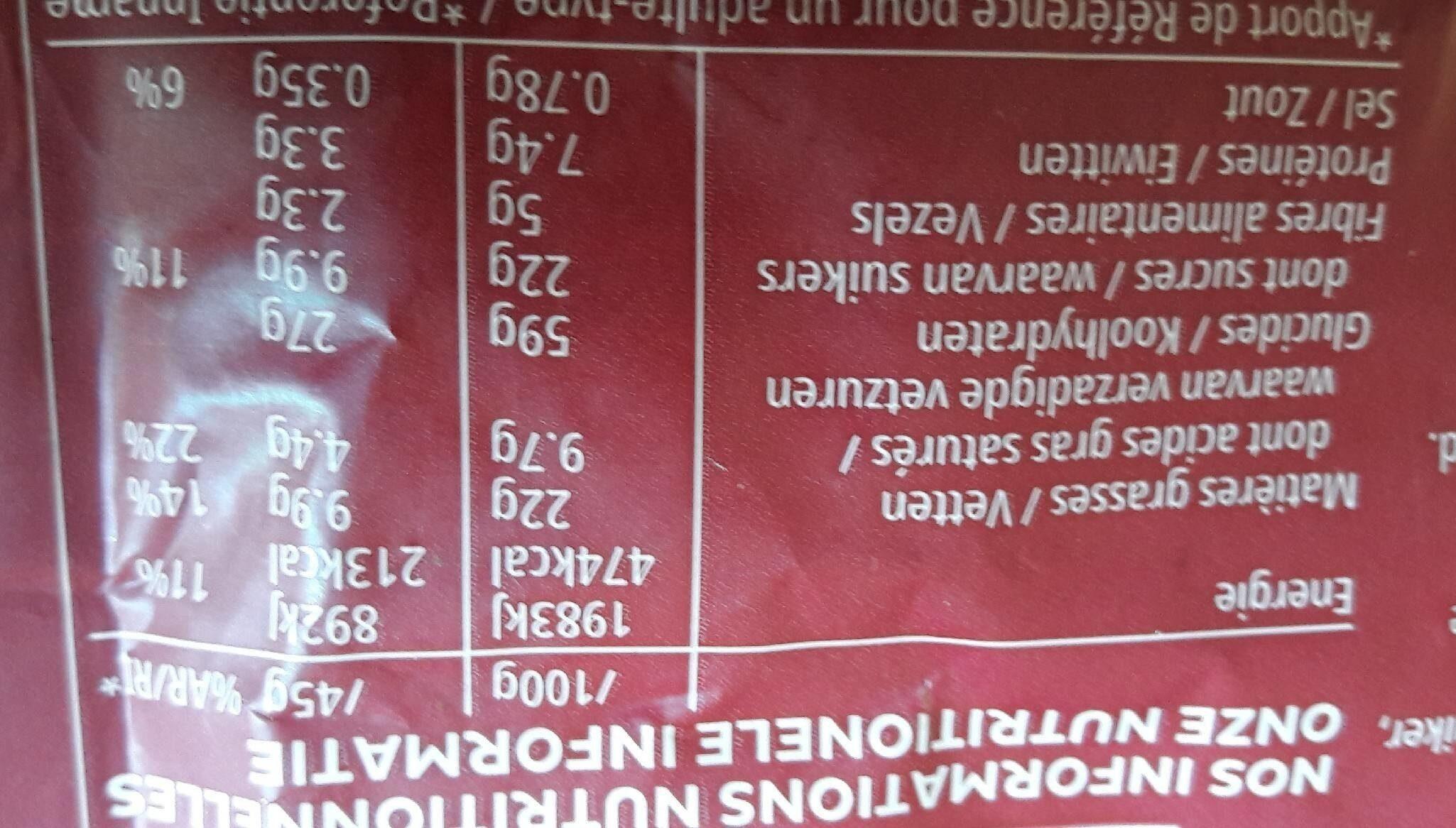 Kelloggs extra aux 3 fruits rouges - Valori nutrizionali - fr