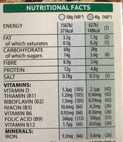 Special K protein clusters &seeds - Informations nutritionnelles - en