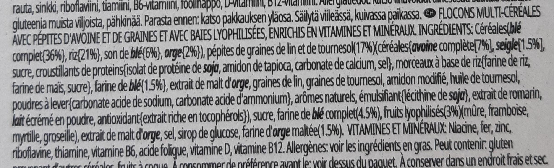 Special K Protein Berries, Clusters & Seeds - Ingredients - fr