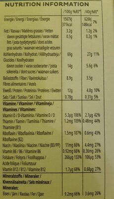 Special K Protein - Informazioni nutrizionali - de