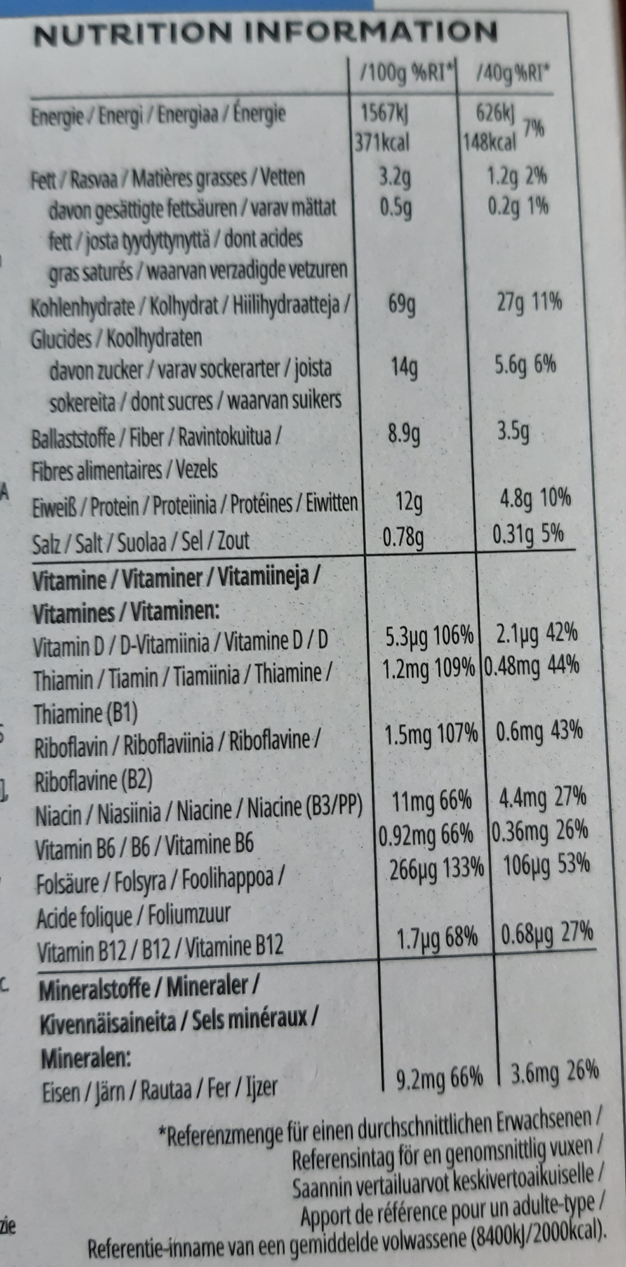 Special K Protein Berries, Clusters & Seeds - Nutrition facts - fr