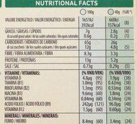 Protein cereales con frutos secos, granolas y - Informação nutricional - it
