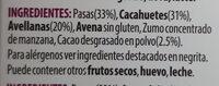 Nuts & raw fruits bar - Ingrediënten - fr