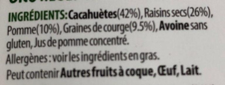 Nuts raw - Ingrédients
