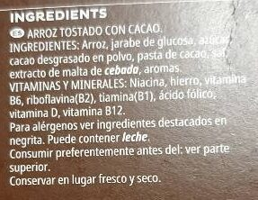 Choco Krispies - Ingredients - es