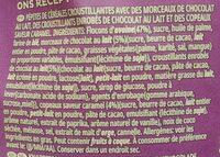 Extra - Éclats croquants et morceaux de chocolat au lait - Ingrediënten - fr