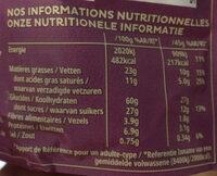 Extra - Éclats croquants et morceaux de chocolat au lait - Voedingswaarden - fr