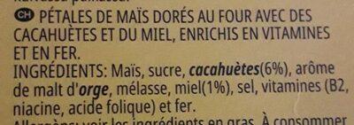Crunchy Nut - Ingrédients