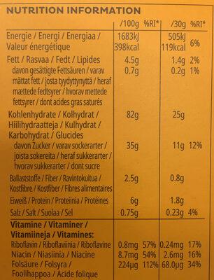 Crunchy Nut - Informations nutritionnelles - fr