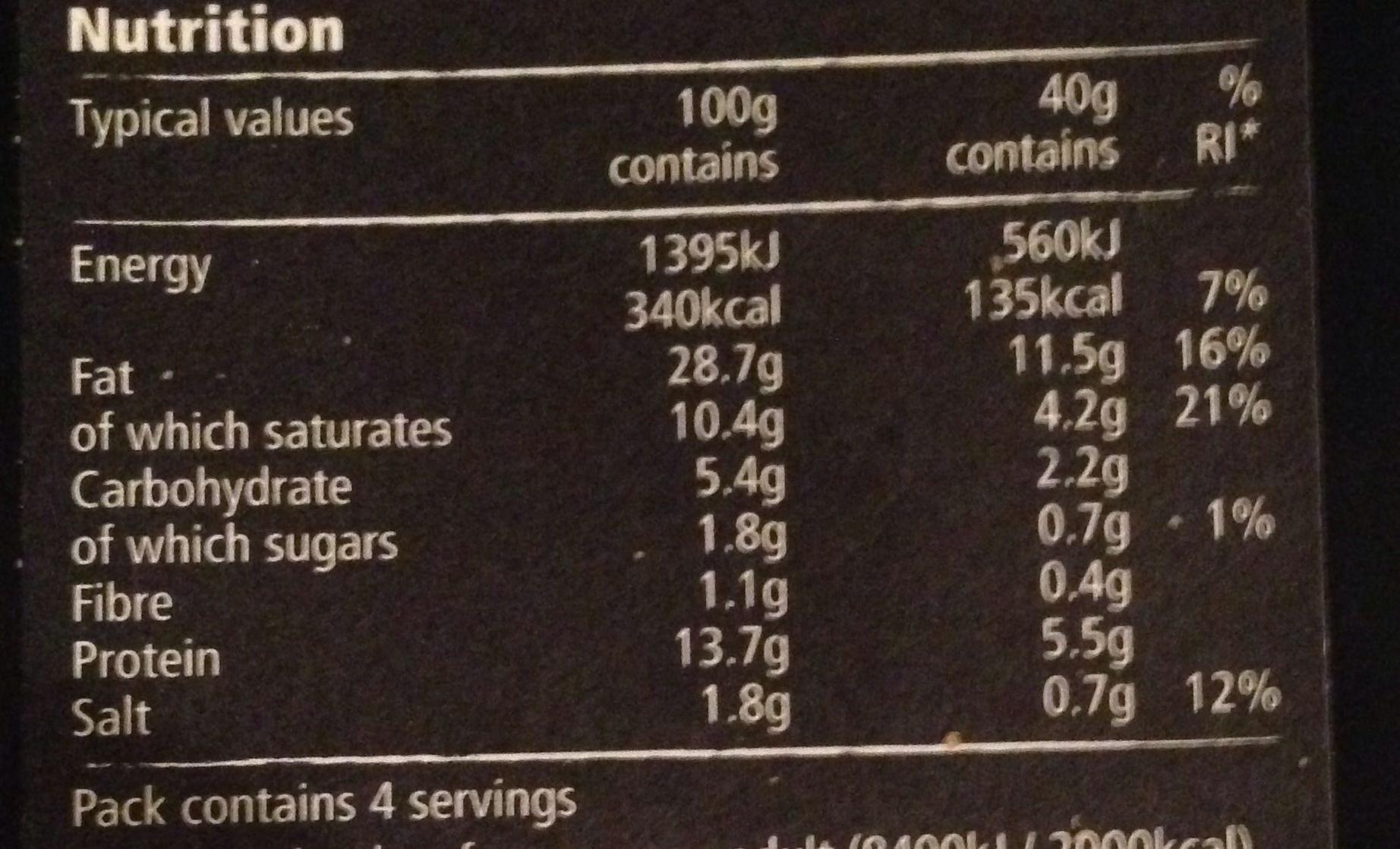 Ardennes pâté - Voedingswaarden - en