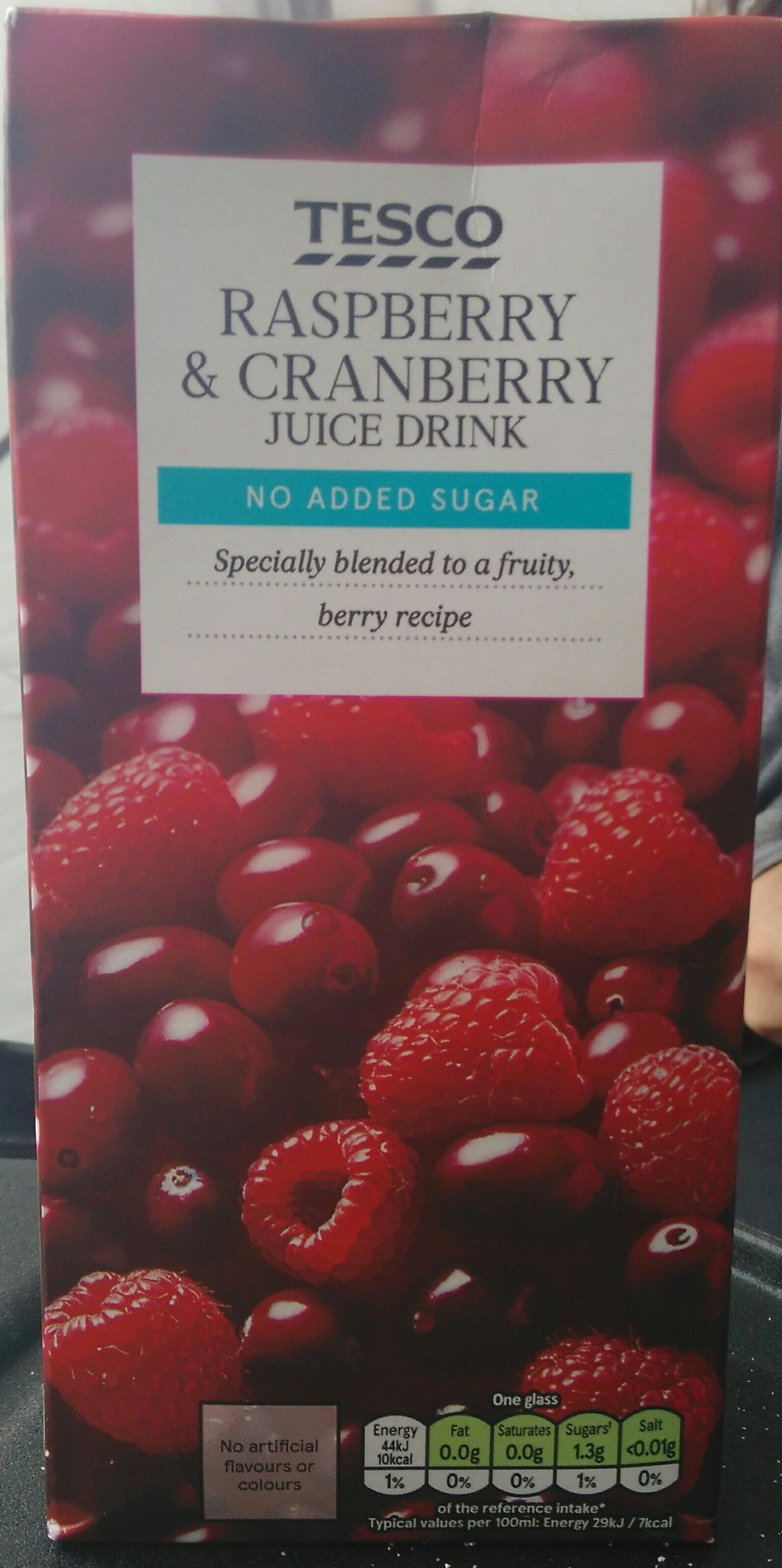 Raspberry & cranberry juice drink - Product - fr