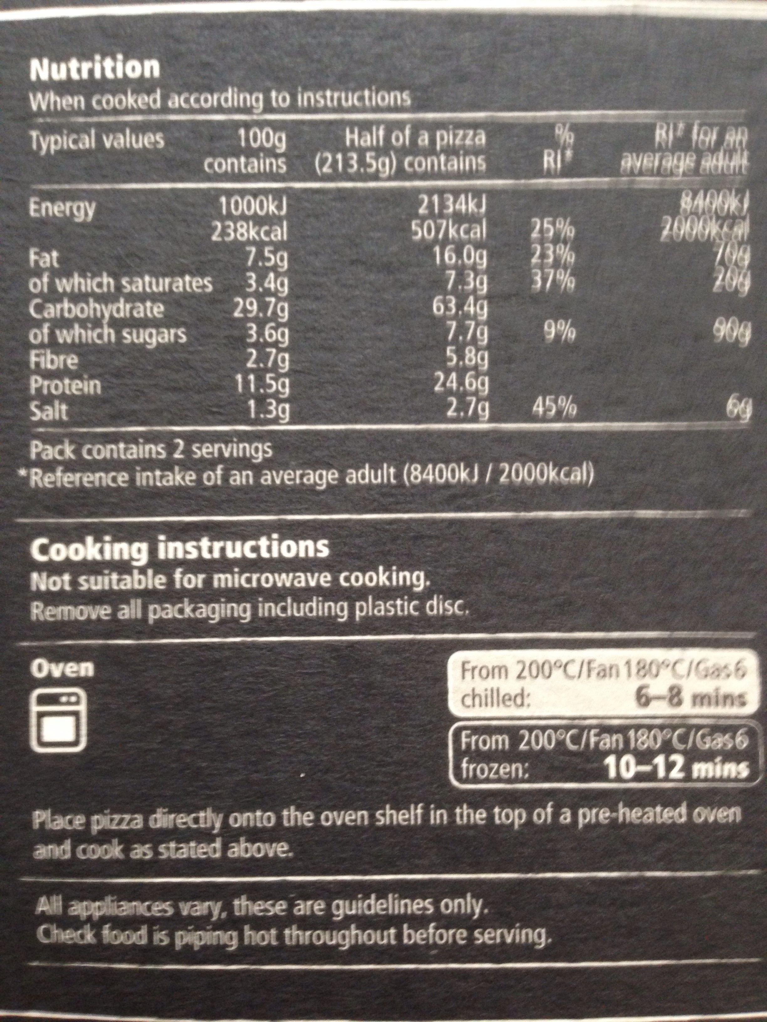 wood fired sunblush tomatoes, italian mozzarella & basil pesto 12'' pizza - Informations nutritionnelles