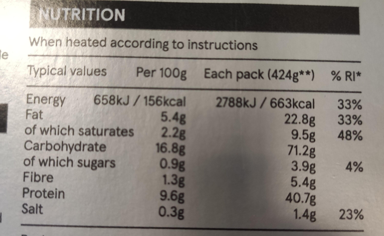Beef Stroganoff with Long Grain and Wild Rice - Voedingswaarden - en