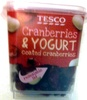 cranberries and yogurt - coated cranberries - Product