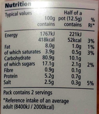 Baked Cracker Mix - Voedingswaarden - en