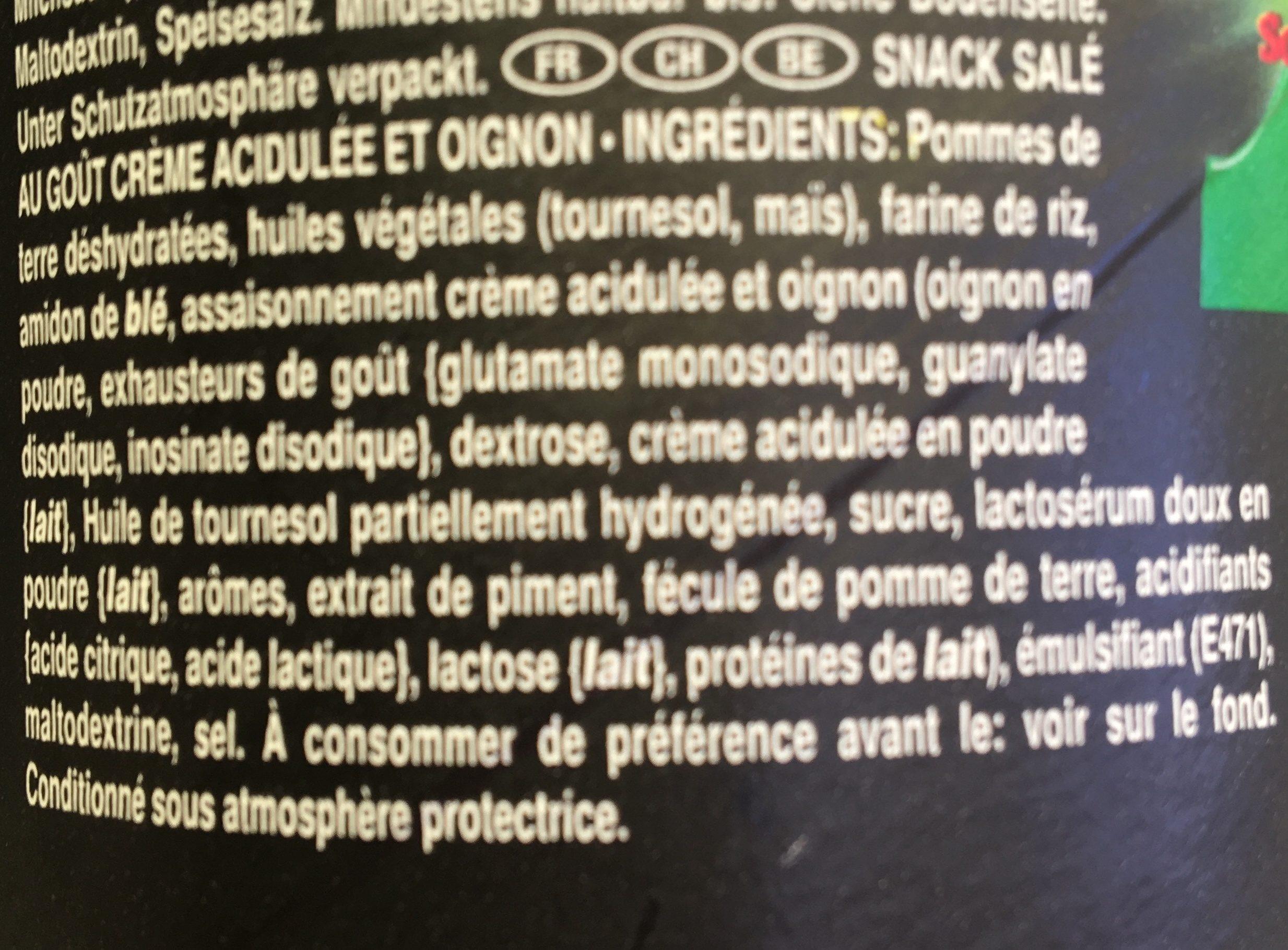 Xtra kickin' sour cream & onion - Ingredients - fr
