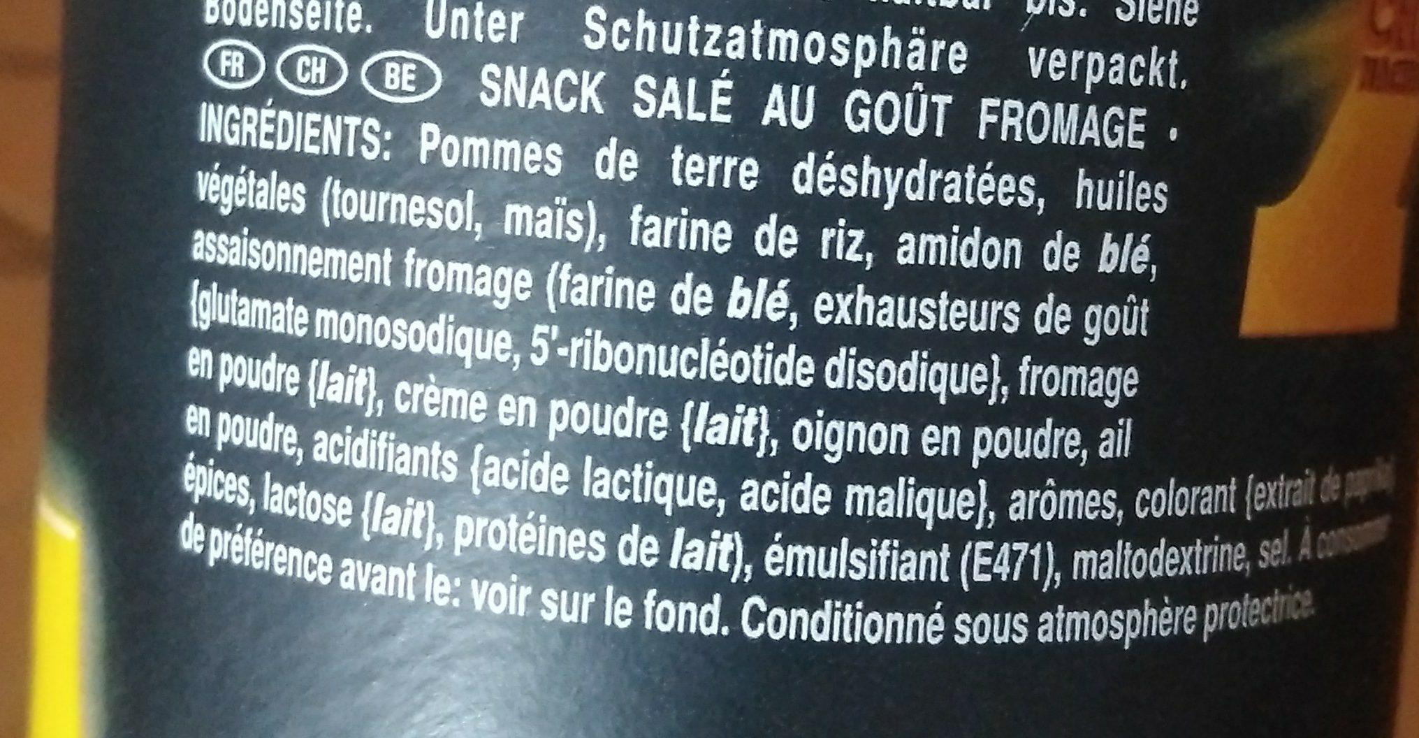 PRINGLES XTRA CHEESE NACH - Ingrediënten - fr