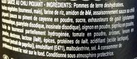 Xtra - Spicy Chilli Sauce - Ingredients - fr