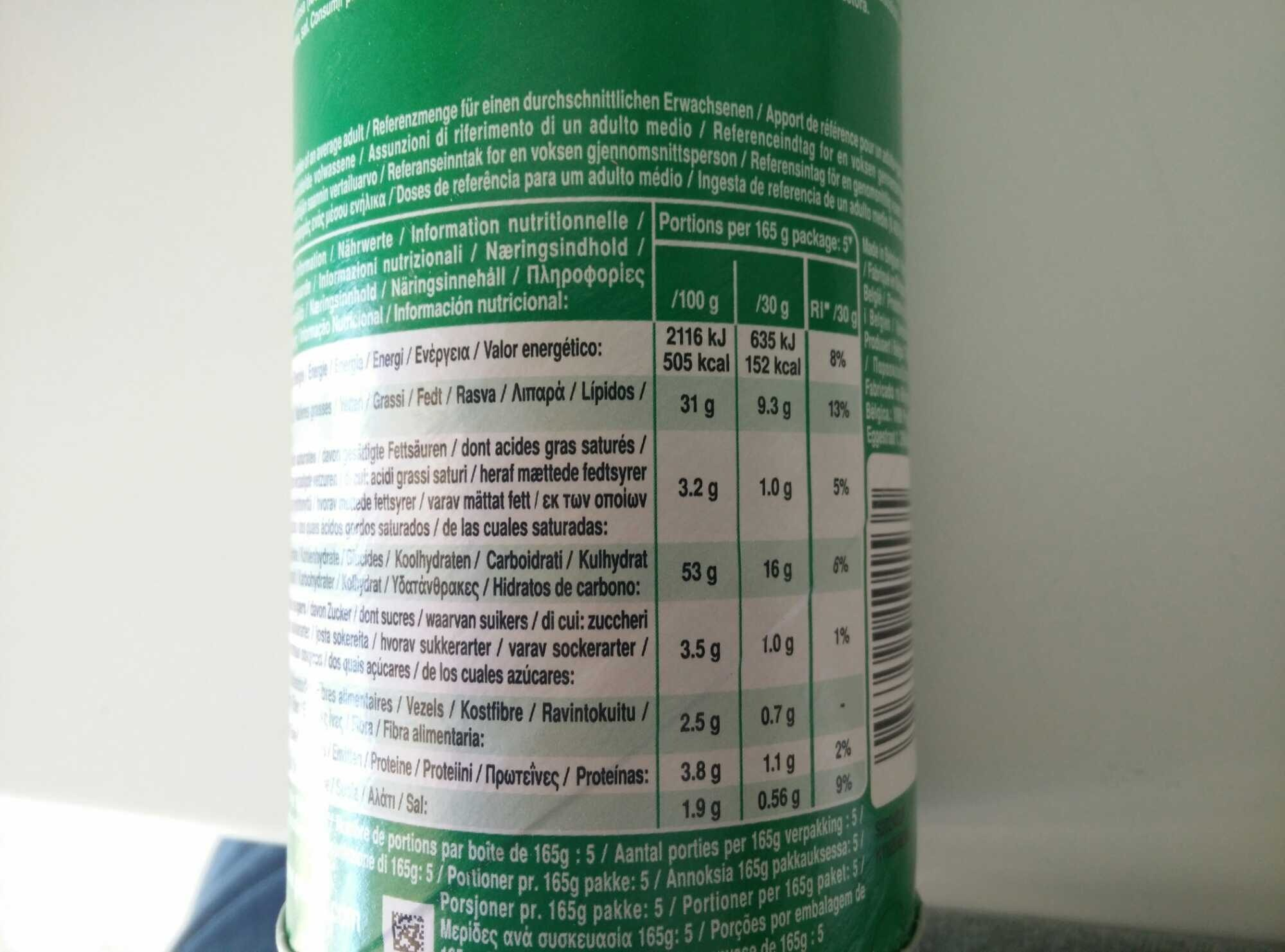 Cheese & Onion - Nutrition facts - fr