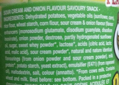 Pringles sour cream & onion - Ingredients - en