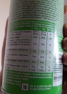 Sour Cream & Onion - Wartości odżywcze - pl