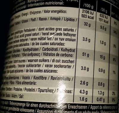 Hot & Spicy - Voedingswaarden - de