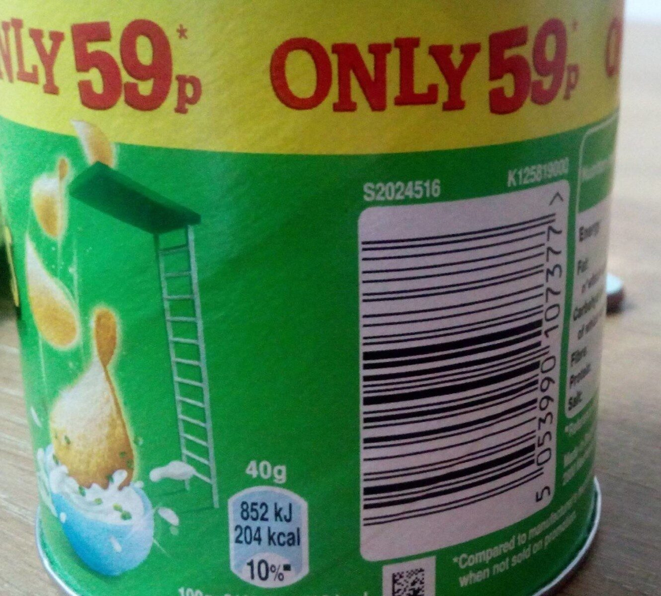 Pringles sour cream & onion - Product