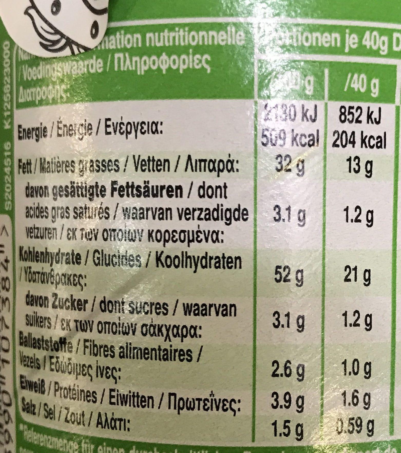 Sour Cream & Onion - Voedingswaarden - fr