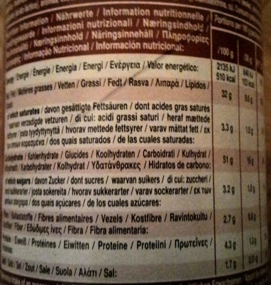 Hot Paprika Chilli - Nutrition facts