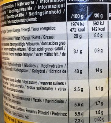 Tortilla chips - Nacho Cheese - Nährwertangaben - de