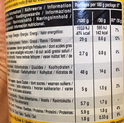 Creatine Monobydrate - Nutrition facts - de