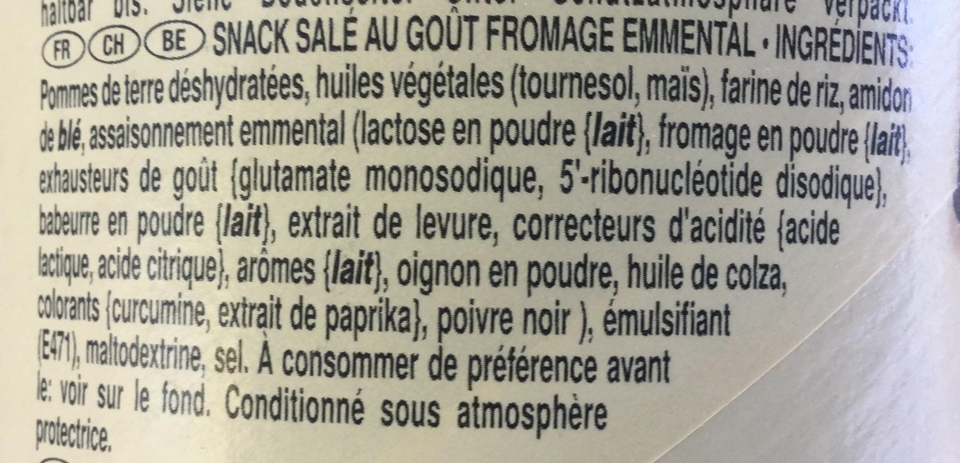 Snack salé au goût emmental - Ingredienti - fr