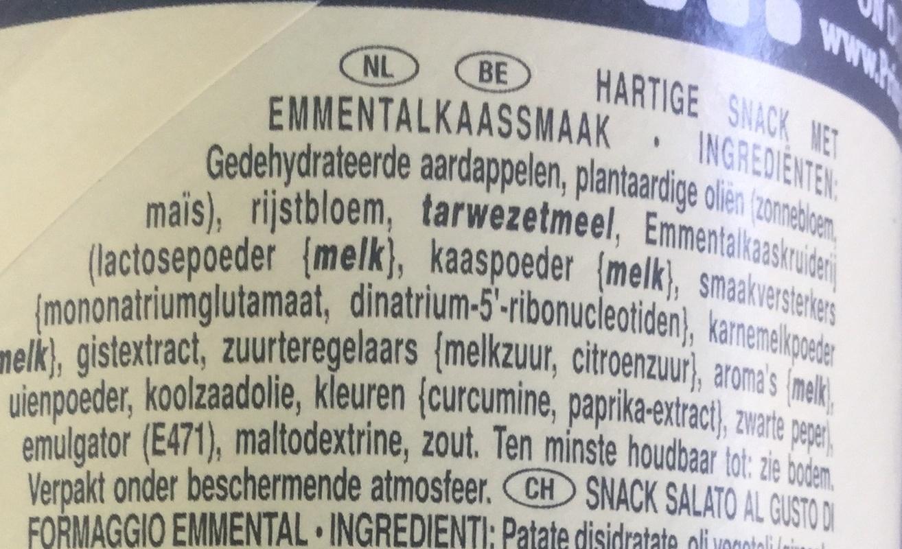 Emmental - Ingrediënten - nl